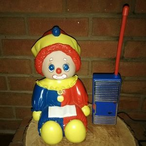 Extremely rare clown baby monitor! Vintage